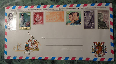 Spagna Busta Postale 7 Special Philatelic Postage Stamps Franqueo Filatelic