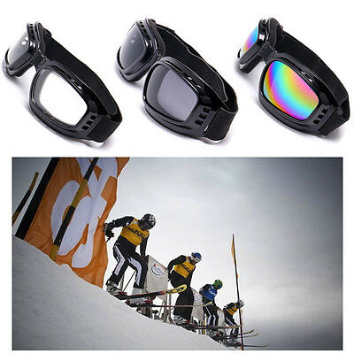 Padded Motorcycle Sunglasses Biker Safety Glasses  Anti-Fog Ski Goggles Mirror