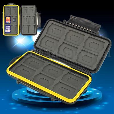 Memory Card Case Storage Holder Waterproof For 12 SD +12 Micro SD TF Cards UK
