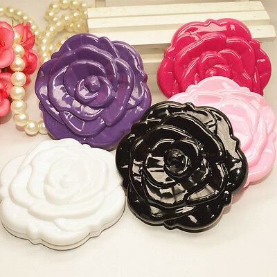 3D Stereo Double Sided Cute Rose Shape Makeup Compact Cosmetic pocket Mirror NEW