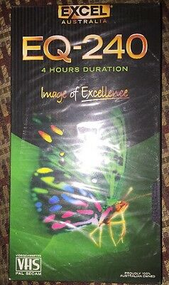 Blank Excel EQ-240, 4 Hour VHS Tape Brand New & Sealed Free Shipping