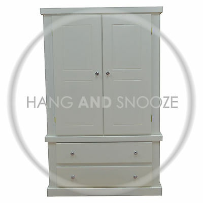 Handmade Dewsbury Mini 2 Drawer Wardrobe (Assembled)