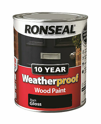ronseal weatherproof 10 year wood paint 750ml all colours