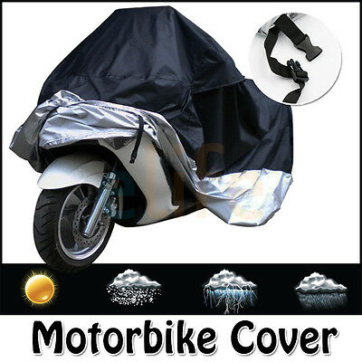 L /xl Motorcycle Waterproof Outdoor Motor Scooter Rain Dust Vented Cover Large