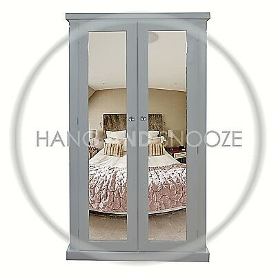 Handmade Dewsbury Ladies Double Mirrored Wardrobe  White (Assembled)