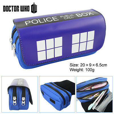 Doctor Who Cosmetic Brush Travel Bag Case Pen Pencil Pouch Purse Police Box