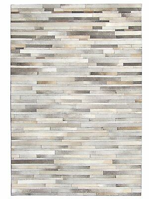 New Cowhide Patchwork Rug Leather Carpet. Exclusive Design.
