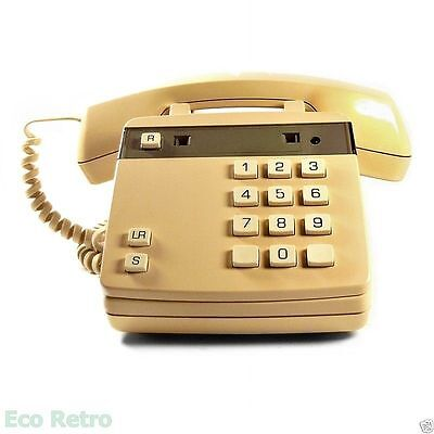 Delta Vintage 1980s Push Button Cream Telephone from Autophon