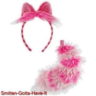 Alice In WONDERLAND Licensed Classic CHESHIRE CAT Ears & TAIL Costume PROP Set