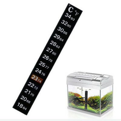 Aquarium stick on thermometer £0.99p  UK BASED DISPATCH WITHIN 24 HOURS FREE PP
