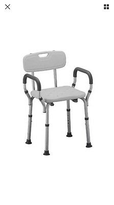 NOVA Medical Products Deluxe Bath Seat with Back & Arms New @