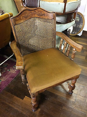 Antique Chair French Provincial style  with wicker back, lovely unique item