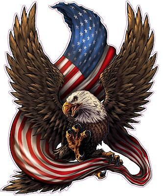 """American bald Eagle american flag 6"""" Tall Decal Free Shipping"""