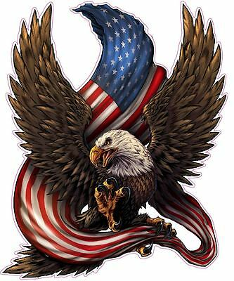 """American bald Eagle american flag Decal Large 12"""" Tall Decal Free Shipping"""