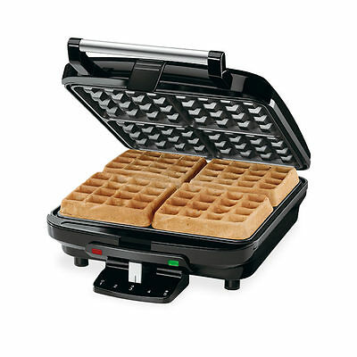Non Stick Stainless Steel Electric Machine Baker 4 Slice Belgium Waffle Maker