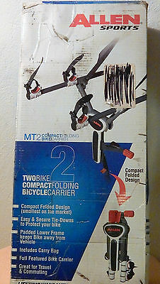 Allen Sports Deluxe 2 Bike Compact Bicycle Carrier - New in Box