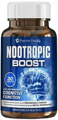 NOOTROPIC BRAIN BOOST Ideal For Students Exams Improves Concentration and Memory