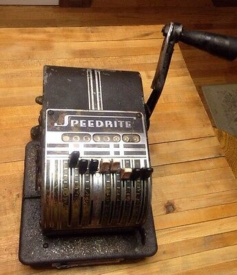 Classic Vintage Speedrite Checkwriter, by Hall-Welter Co.