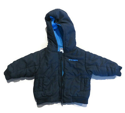 Bright Bots Navy Blue Baby Boy Hood Puffer Jacket Size O or 6-12 months