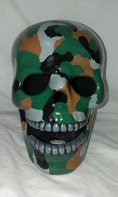 Camo Skull Ww2 Bommer Girl - Hand Made And Painted In Australia