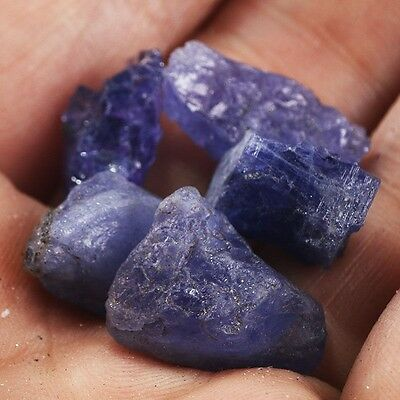100Ct Natural Unheated Blue Tanzanite Gem Crystal Rough Mineral Specimen