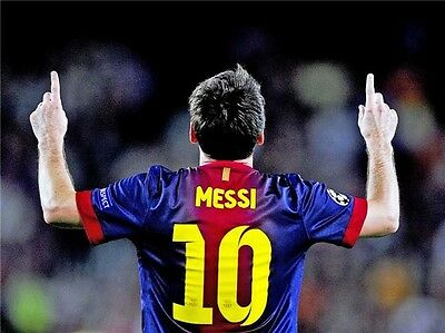 """026 Lionel Messi - Barcelona Football Soccer Top Player 32"""" x 24""""  Poster"""