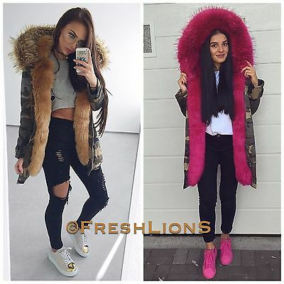 Jacke Parka Fashion Blogger Winter Fell Kapuze Kunstfell BonBon Damen Freshlions