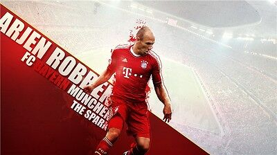 "Arjen Robben Football Star Art Wall Poster 40/""x24/"" 006"
