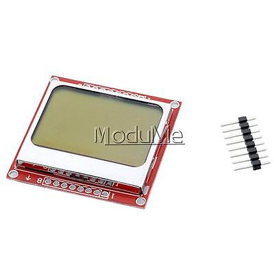 2PCS 84x48 Nokia LCD Module Blue Backlight Adapter PCB Nokia 5110 LCD Arduino MO