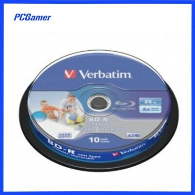 Verbatim BD-R 25GB LTH 10Pk White Wide IJP Spindle 6x