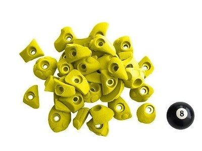 Atxarte Bolt-On Feet Climbing Holds, Yellow