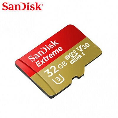 Sandisk 32GB Extreme Micro SD SDHC Card + Adapter 90MB/s V30 UHS-I U3