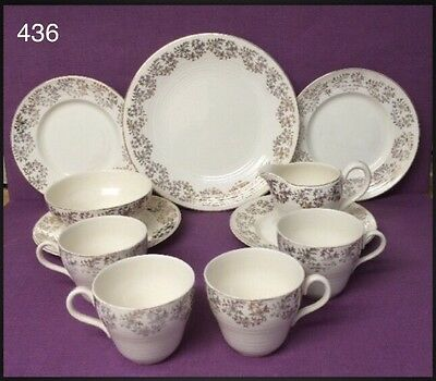 Vintage George Clews & Co Ltd Part Set Cream and Gold • 436