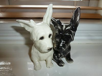 Vintage Black And White Scottie Dogs - Joined