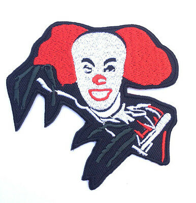 Pennywise The Dancing Clown Patch Embroidered Badge IT Horror Costume Souvenir