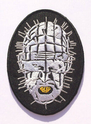 Hellraiser Pinhead Patch Embroidered Badge Horror Movie Lead Cenobite Cotton NEW