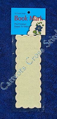 Bookmark to Cross Stitch Basic Pre-Finished Ivory 14 Count Blank Bookmarks