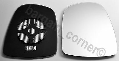 Left Passenger Side Wing Mirror Glass Backing HEATED Renault Trafic 2001-2014