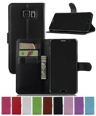 Wallet Leather Flip Case Pouch Cover For Samsung Galaxy Note 5 Genuine AuSeller
