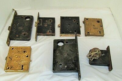 Vintage Mortise Locks lot 7 Corbin,Sargent,Yale,Pat.July21,1863 LQQK!!