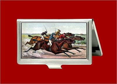 Horse Racing Kentucky Derby Belmont Stakes Jockey Id Business Card Holder Case