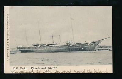 Sailing HM Royal Yacht VICTORIA and ALBERT Used 1904 PPC
