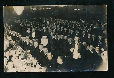 Transport trams social history TRAMWAYS REUNION 24 12 29 RP PPC unlocated