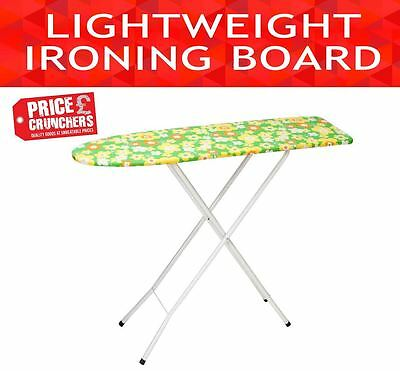 """Ironing Board Lightweight Foldable Clothes Iron Ironing Table Wooden Top 42"""""""
