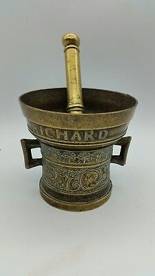 Vintage Richard Startyn 1623 pestle & mortar solid brass MERREL 1983 SCARCE