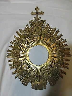 Vintage Monstrance Reliquary Holy Trinity Priest Vestment Chalice Rosary Icon