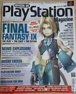 Official Uk Playstation Magazine Issue No.59--Final Fantasy Ix Cover