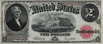 1917 $2 United States Note FR59 Extra Fine MULE