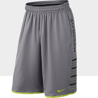 Nike Mens Hyper Elite Dri-Fit Basketball Shorts in Silver Green BNWT M