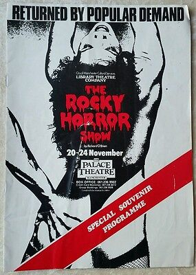 The Rocky horror show 1984 Palace theatre programme Manchester SCARCE